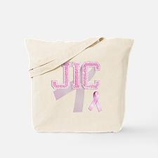JIC initials, Pink Ribbon, Tote Bag
