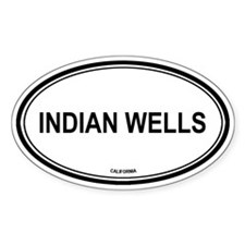 Indian Wells oval Oval Decal
