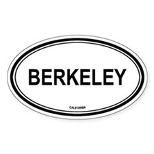 Berkeley oval Oval Decal
