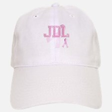 JDL initials, Pink Ribbon, Baseball Baseball Cap