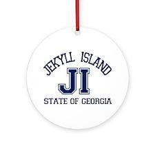 Jekyll Island - Varsity Design. Ornament (Round)