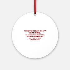 Delete An App Ornament (Round)