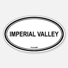 Imperial Valley oval Oval Decal