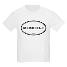 Imperial Beach oval Kids T-Shirt