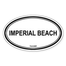 Imperial Beach oval Oval Decal