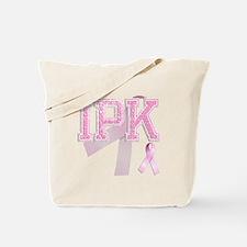 IPK initials, Pink Ribbon, Tote Bag