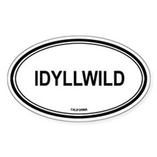 Idyllwild oval Oval Decal