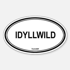 Idyllwild oval Oval Decal