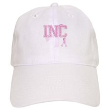 INC initials, Pink Ribbon, Baseball Cap