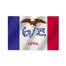 Iowa State Flag Rectangle Magnet (10 pack)