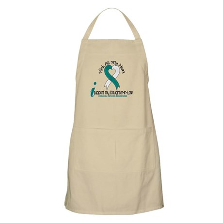 With All My Heart Cervical Cancer Apron