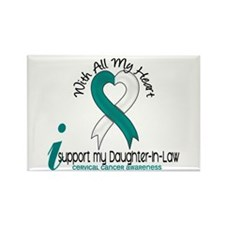 With All My Heart Cervical Cancer Rectangle Magnet