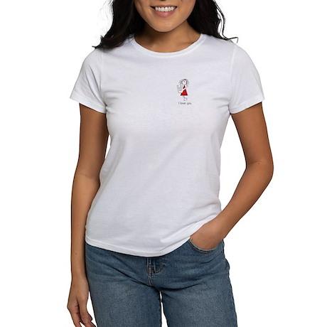 """""""I Love You"""" Sign Language Women's T-Shirt"""