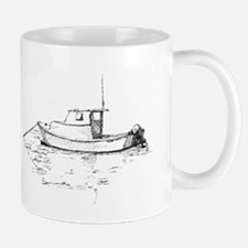 Lobster Boat Sketch Mug