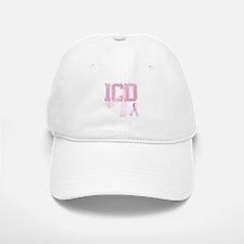 ICD initials, Pink Ribbon, Baseball Baseball Cap