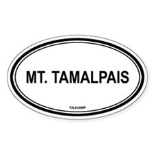 Mt Tamalpais oval Oval Decal