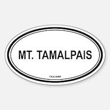 Mt Tamalpais oval Oval Decal
