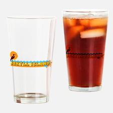 Jekyll Island GA - Beach Design. Drinking Glass