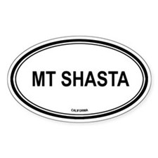 Mt Shasta oval Oval Decal