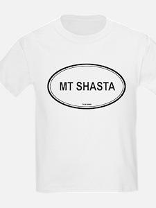 Mt Shasta oval Kids T-Shirt