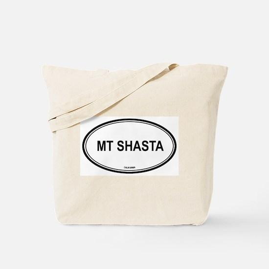 Mt Shasta oval Tote Bag