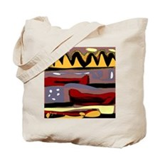 Abstract Red Canoe Tote Bag