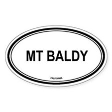 Mt Baldy oval Oval Decal