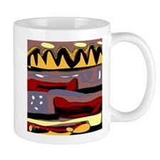 Abstract Red Canoe Mug