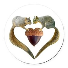 Love Squirrels Round Car Magnet