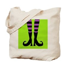Halloween Witch Feet Tote Bag