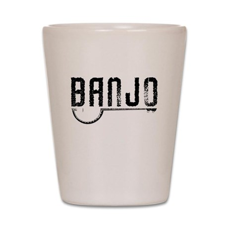 Retro Banjo Shot Glass
