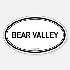 Bear Valley oval Oval Decal