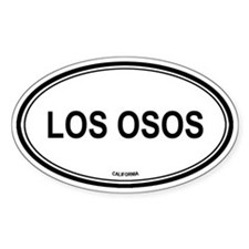 Los Osos oval Oval Decal
