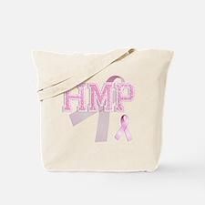 HMP initials, Pink Ribbon, Tote Bag