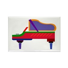 Funky Piano Rectangle Magnet