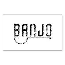 Retro Banjo Decal