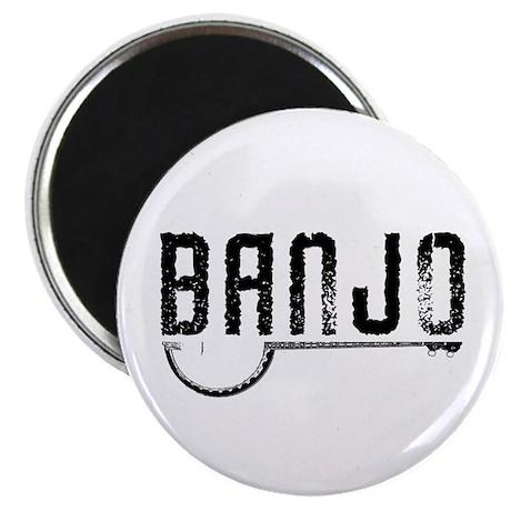 Retro Banjo Magnet