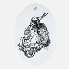 Scooter Sketch Ornament (Oval)