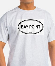 Bay Point oval Ash Grey T-Shirt