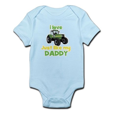 I love tractors just like my Daddy Infant Bodysuit
