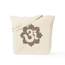 YogaGlam.com Om Lotus Tote Bag