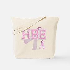 HBE initials, Pink Ribbon, Tote Bag