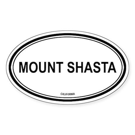 Mount Shasta oval Oval Sticker