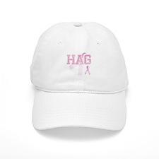 HAG initials, Pink Ribbon, Baseball Cap