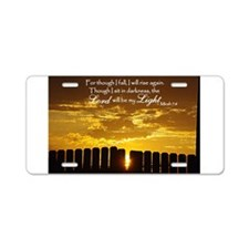 Lord will be my Light Aluminum License Plate