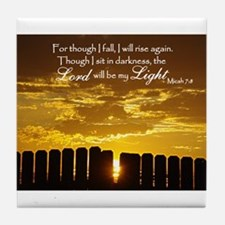 Lord will be my Light Tile Coaster