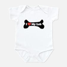 I Love My Lab - Dog Bone Infant Bodysuit