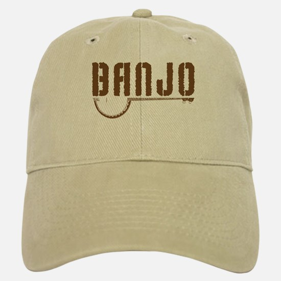 Retro Banjo Baseball Baseball Cap