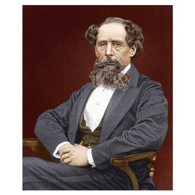 Charles Dickens, British author Canvas Art