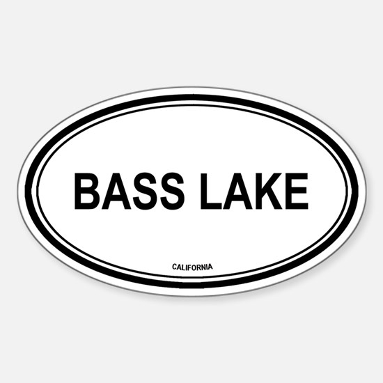 Bass Lake oval Oval Decal